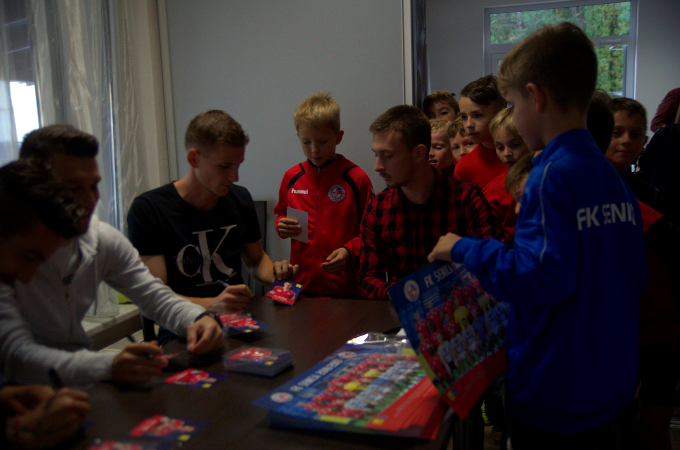 Farewell to the season: Autograph session of football players FK Senica